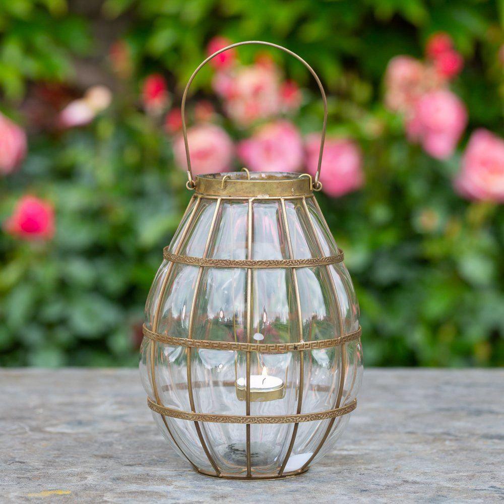 Blown Glass Hanging Lantern