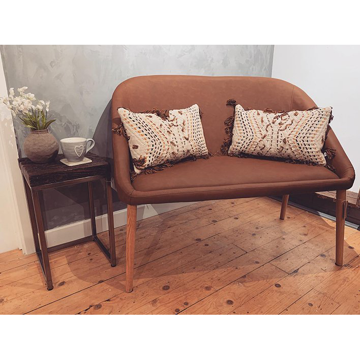 Faux Leather Bench Chair