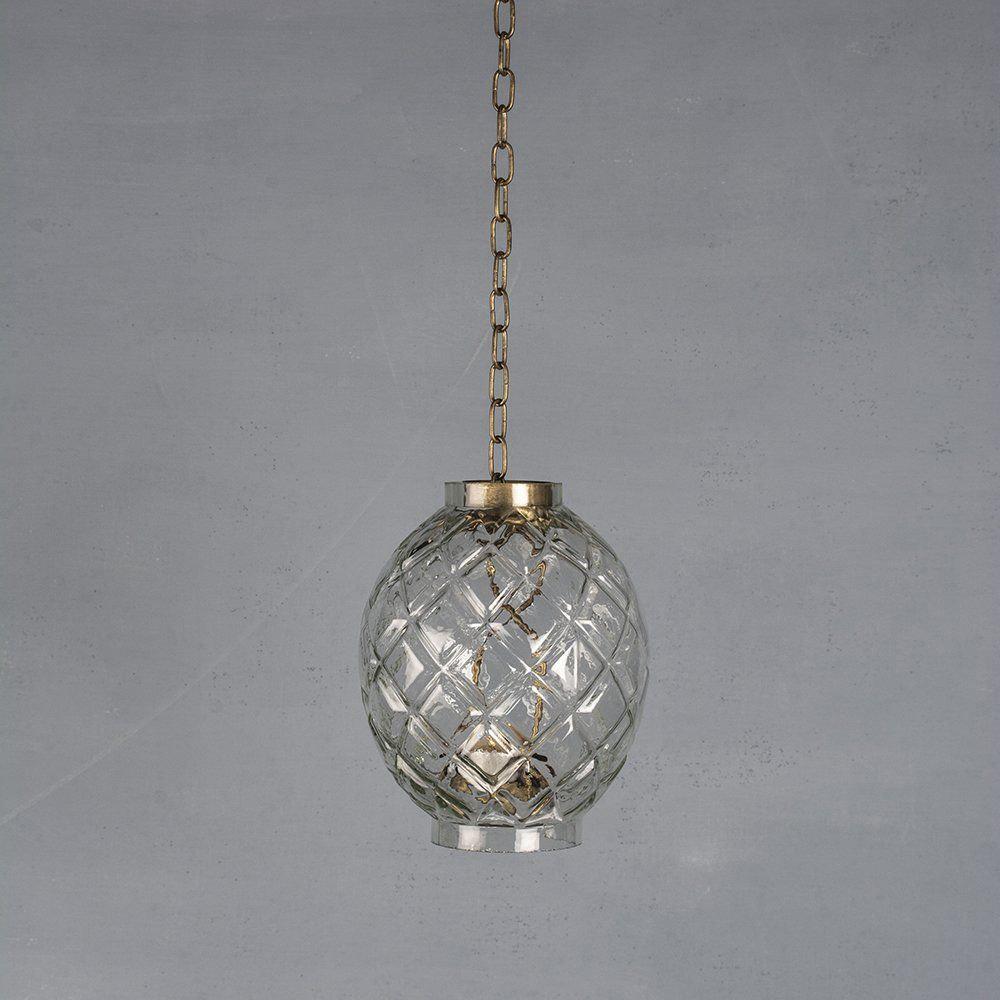 Harlequin Glass Hanging Lantern