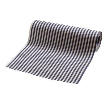 Rullgardinstyg linne, blårandig - Gysinge