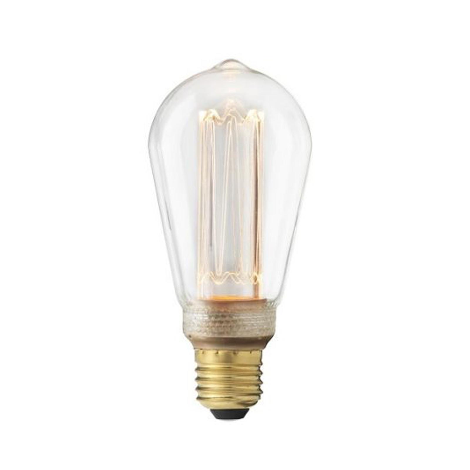 LED-lampa Edison E14, rökfärgad
