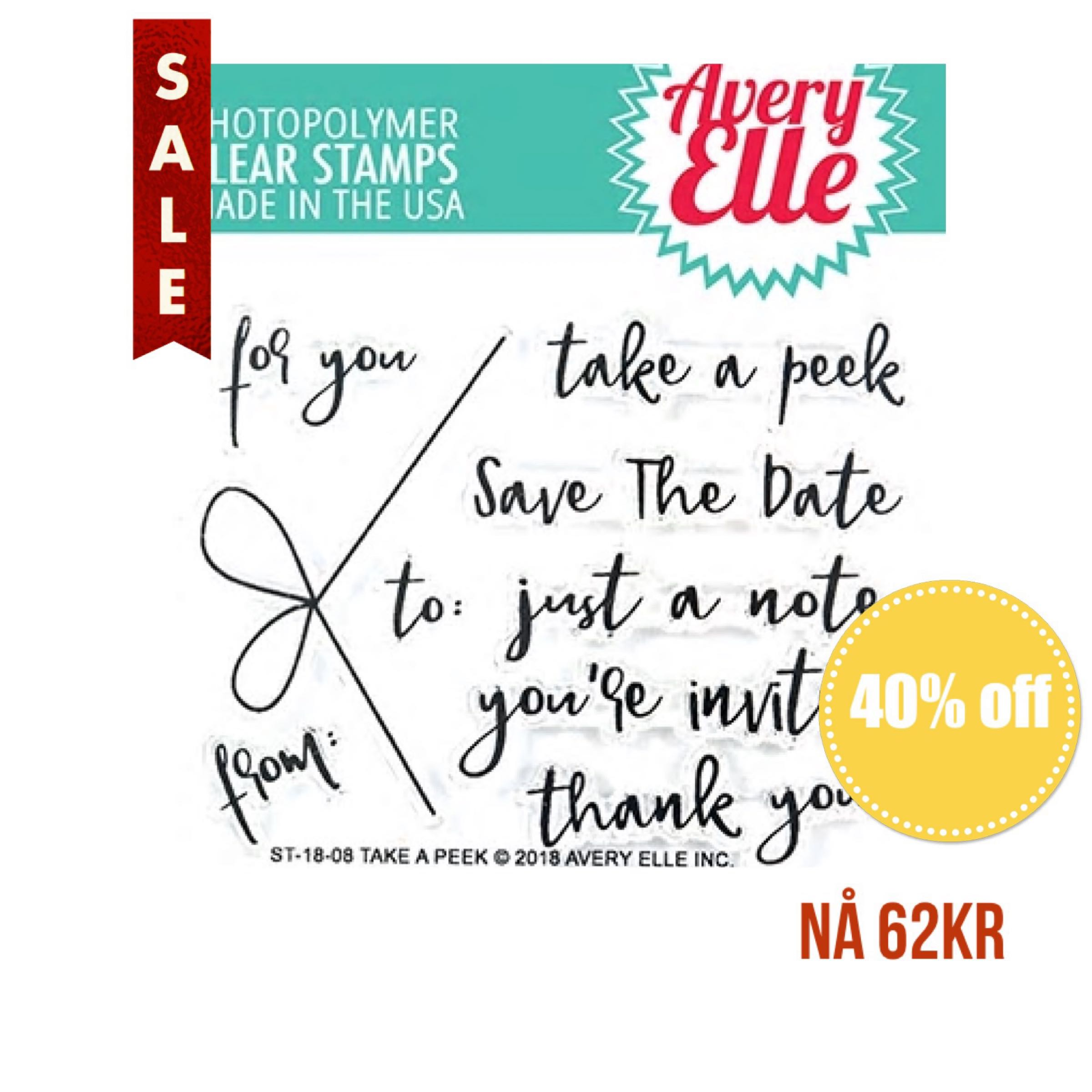 Avery Elle Clear Stamps - Take A Peek
