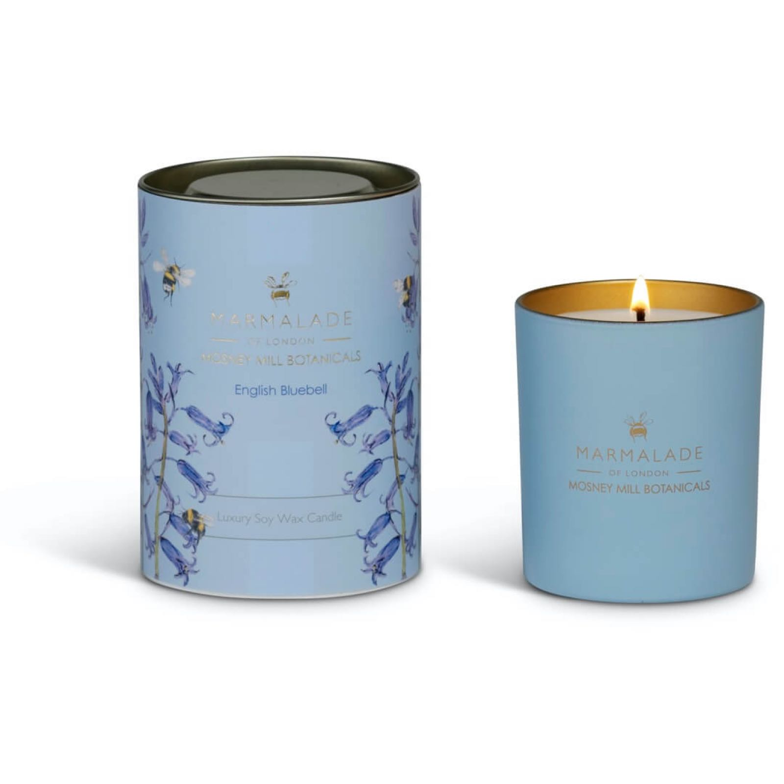 Mosney Mill English Bluebell Glass Candle