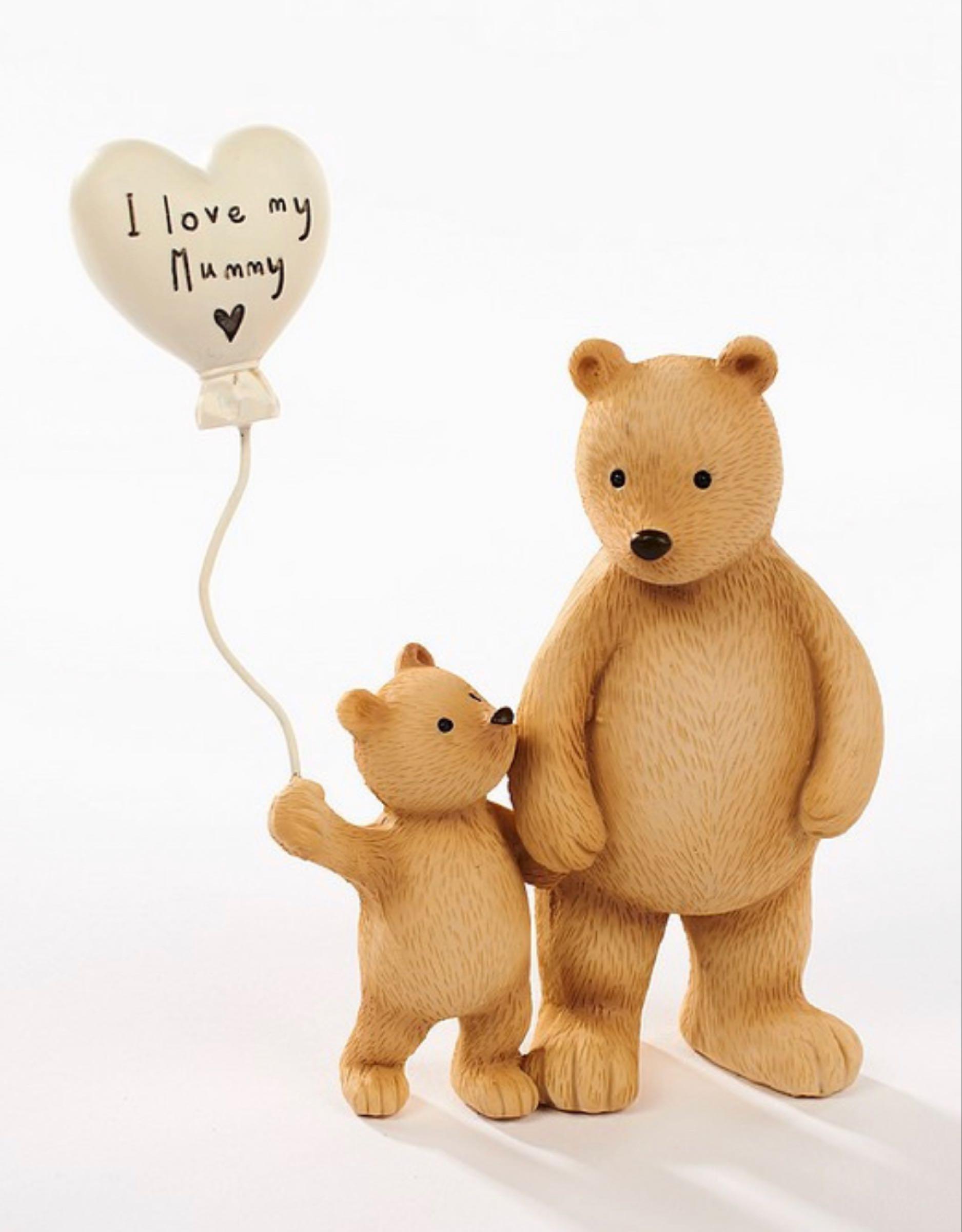 I love my Mummy Balloon Bear