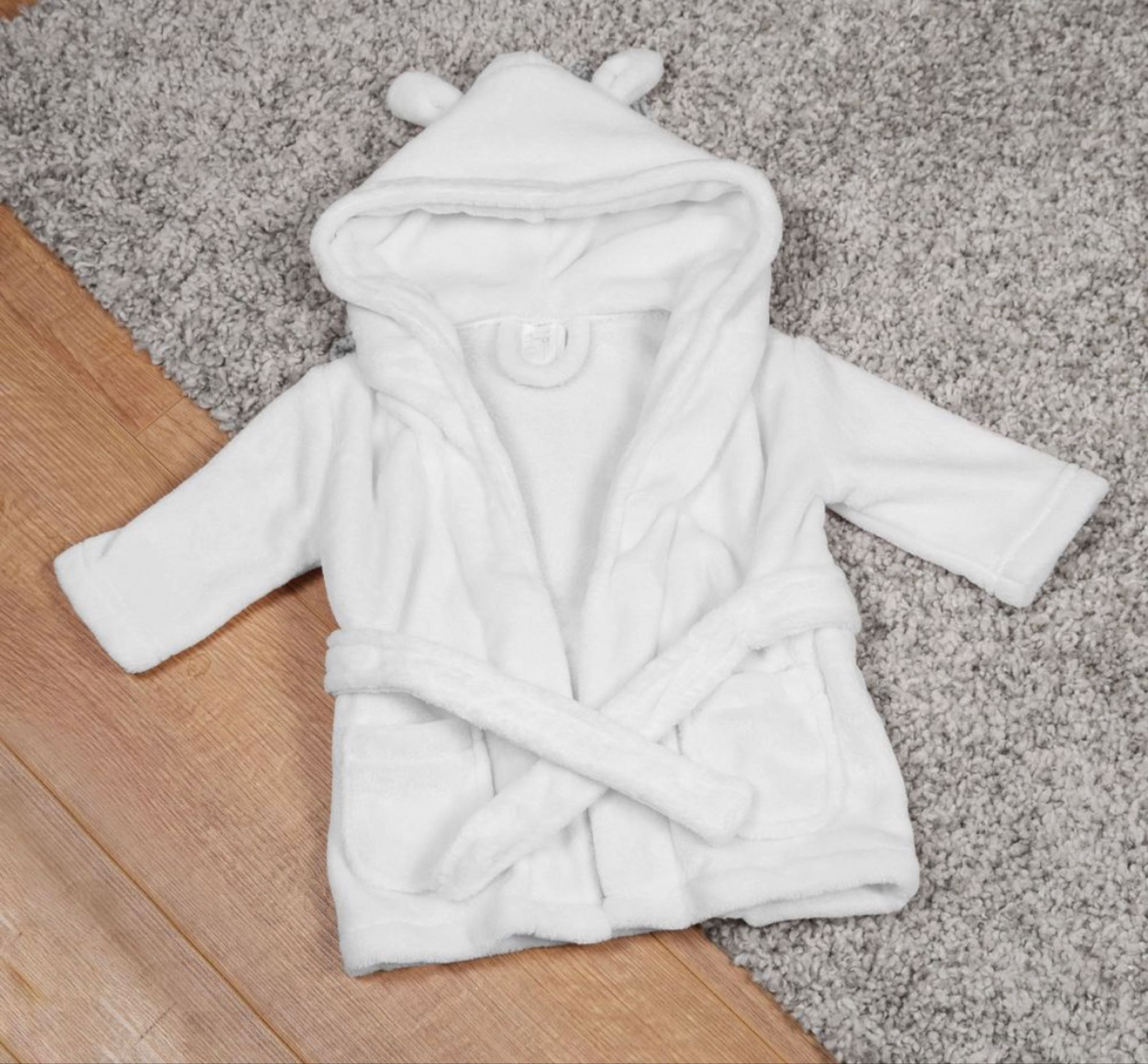 Bambino Baby's First Dressing Gown White 3-6 months in gift box