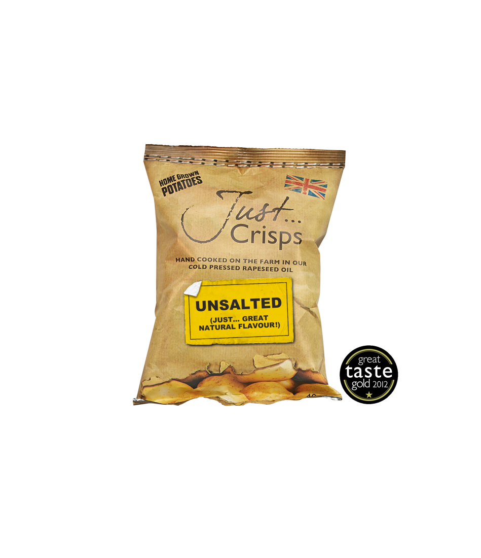Just Crisps Unsalted 24 x 40g Snack Size