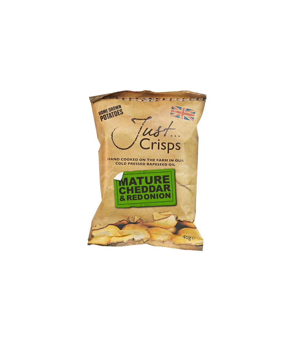 Just Crisps Mature Cheddar & Onion 24 x 40g Snack Size