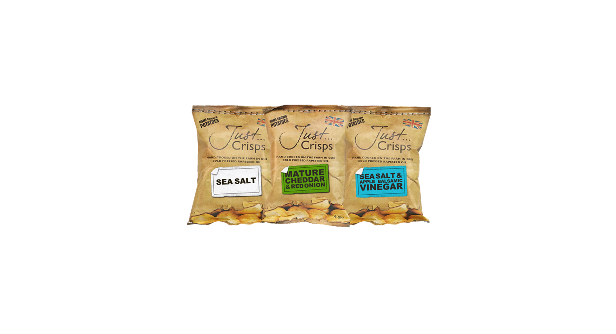 Just Crisps Classic Collection 3 x 8 x 40g Snack Size