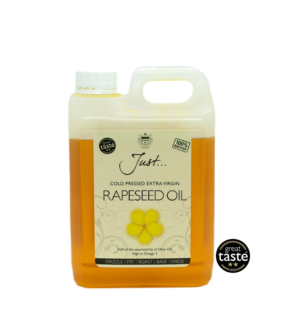 Just Oil British Rapeseed Oil, Cold Pressed Extra Virgin, 1.75 Litre