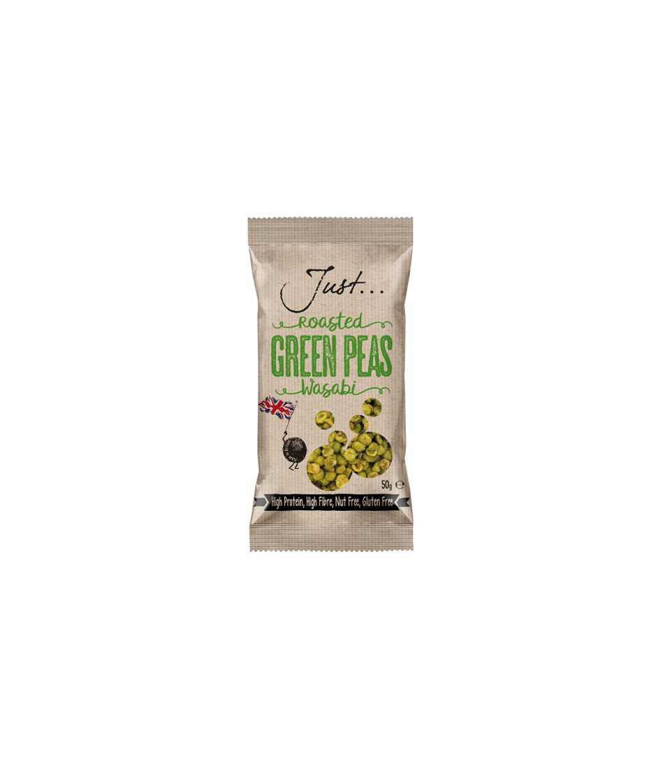 Just Roasted Green Wasabi Peas 20 x 50g