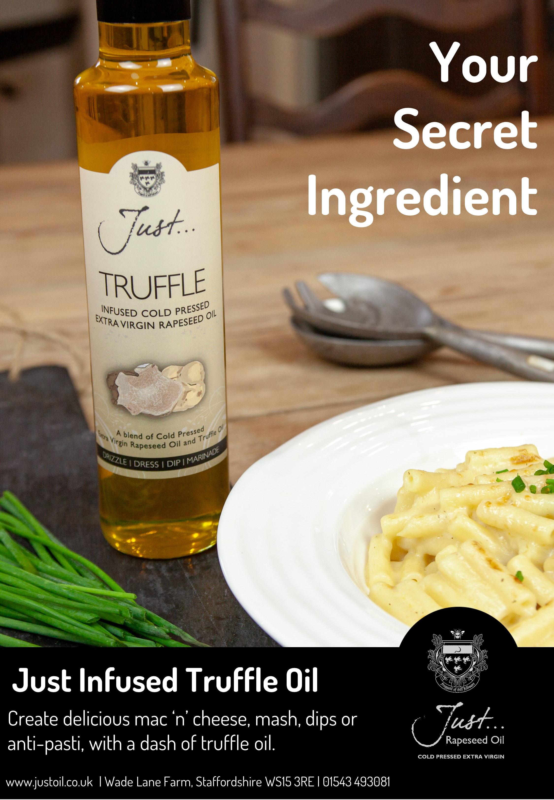 Just Truffle Infused Cold Pressed Rapeseed Oil 250ml x 6