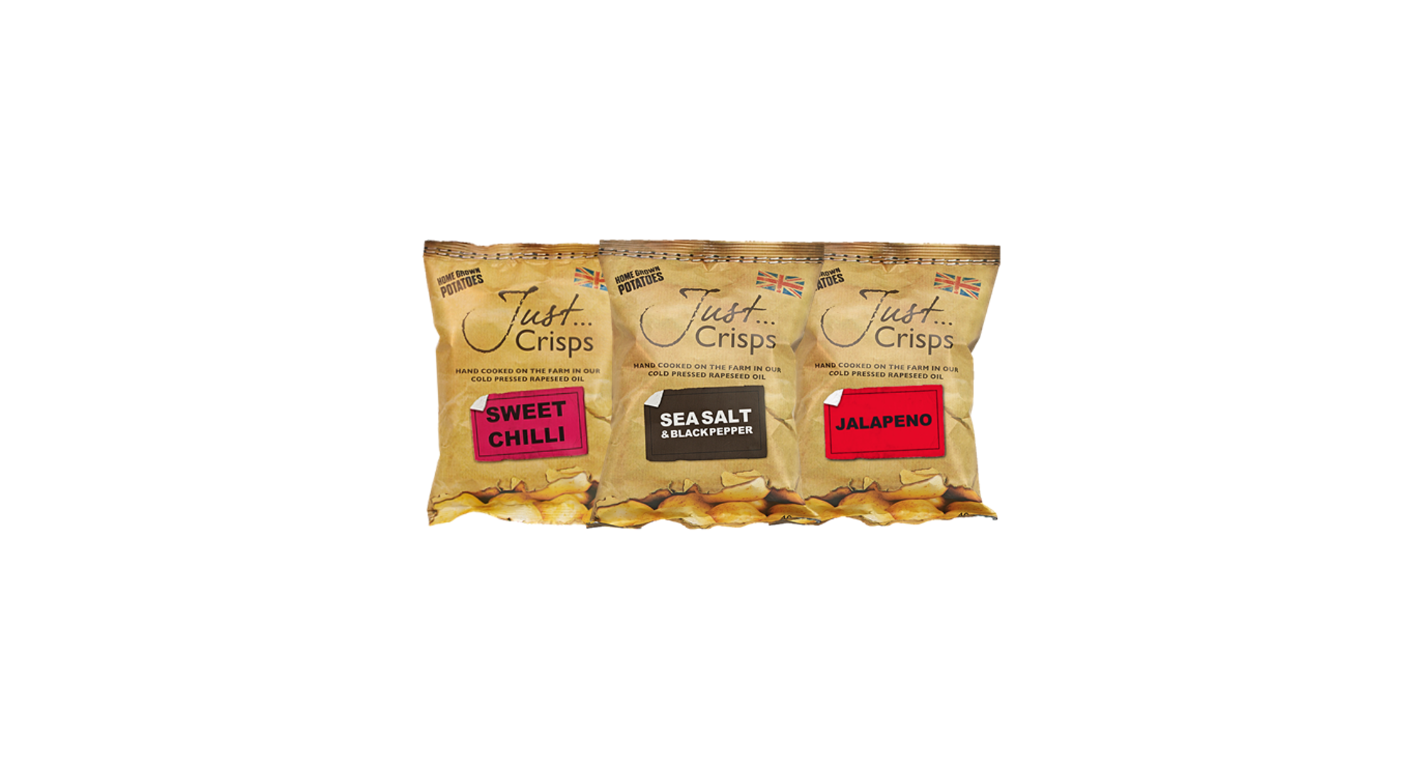Just Crisps Spicy Collection 3 x 8 x 40g Snack Size
