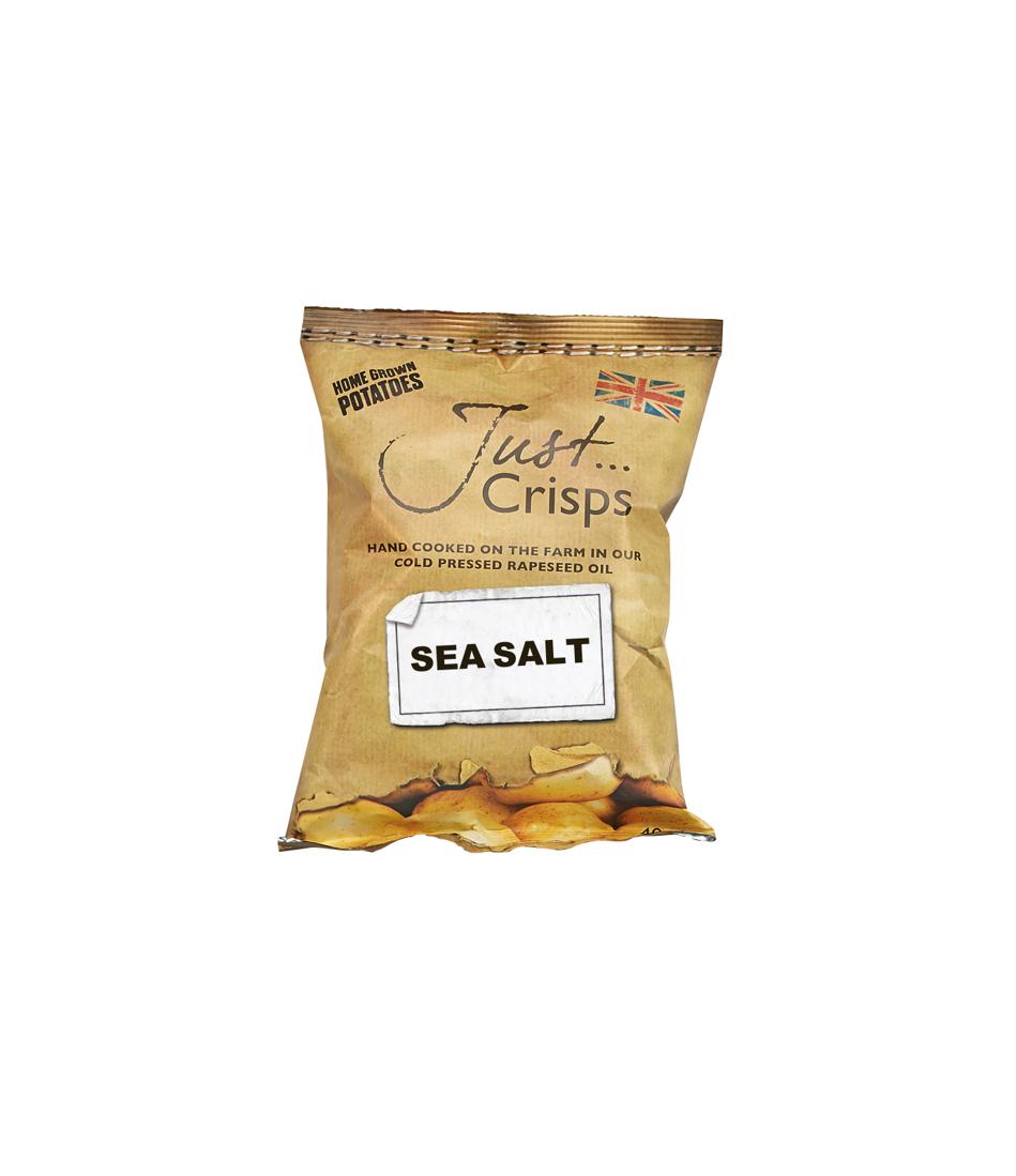 Just Crisps Sea Salt 24 x 40g Snack Size