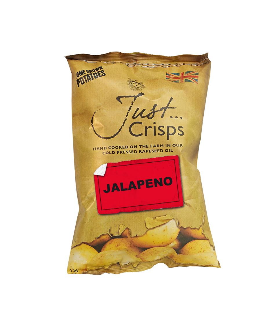 Just Crisps Jalapeño 12 x 150g Sharing Size