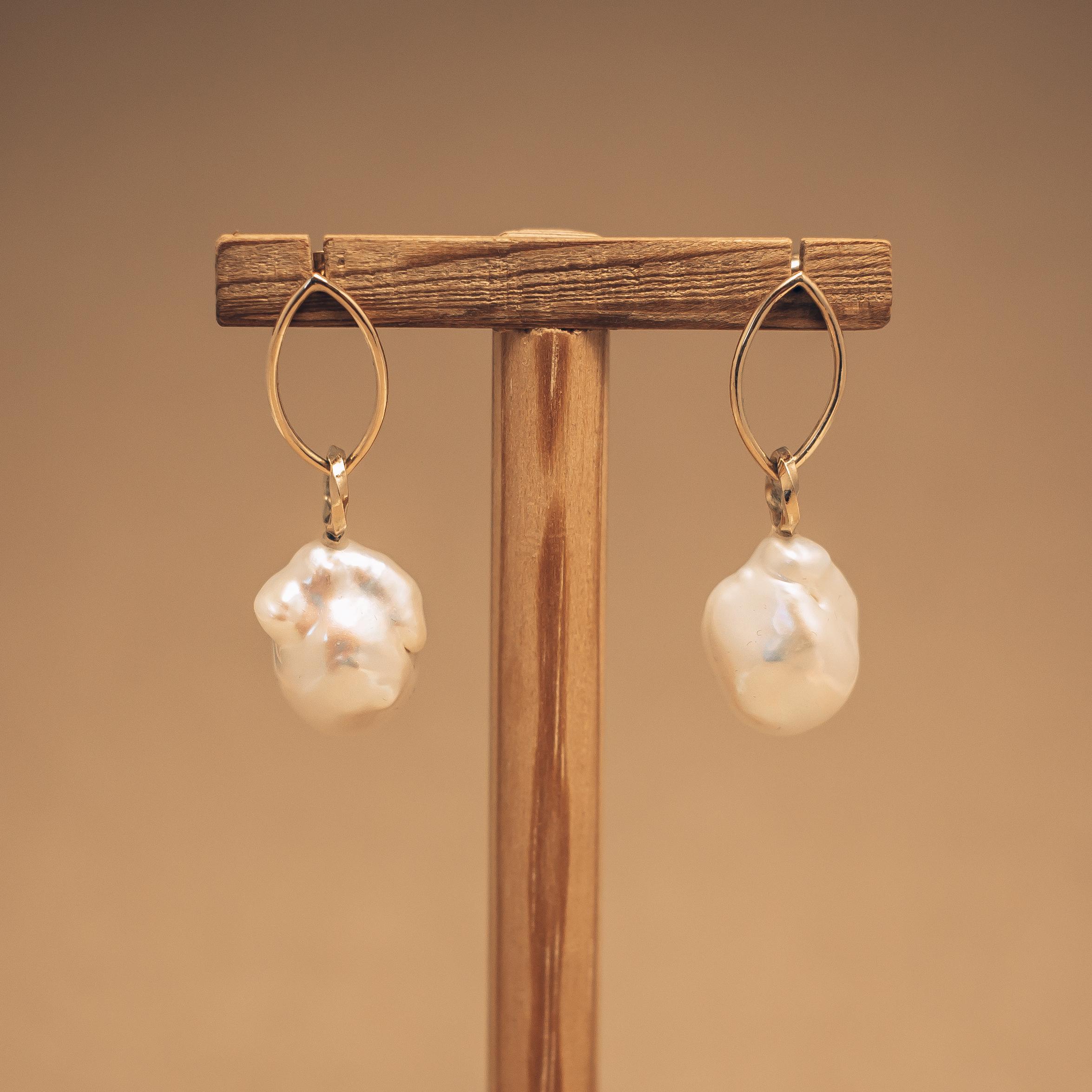 Barock Pärlörhängen
