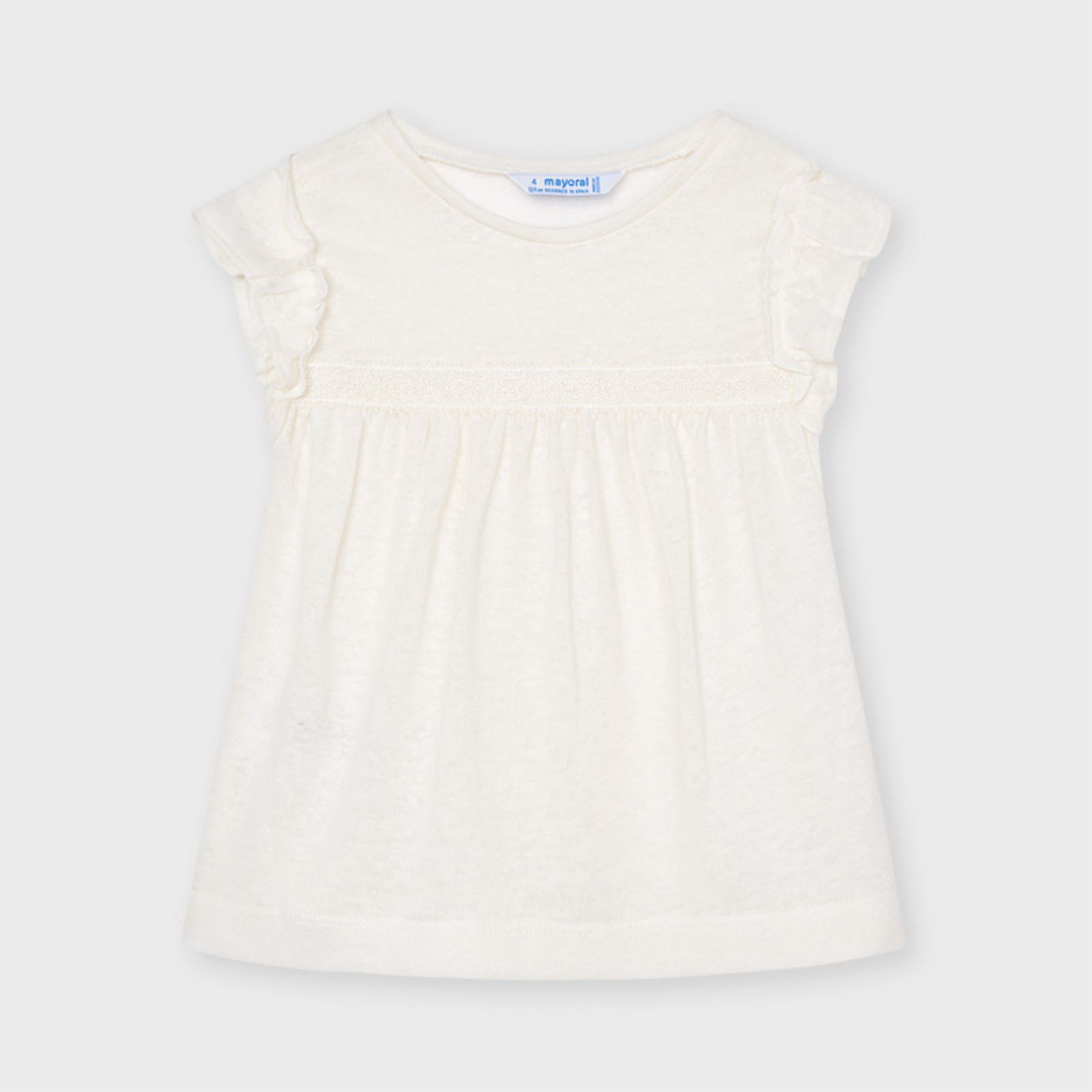 MAYORAL GIRLS Short sleeved linen t-shirt 3006-32