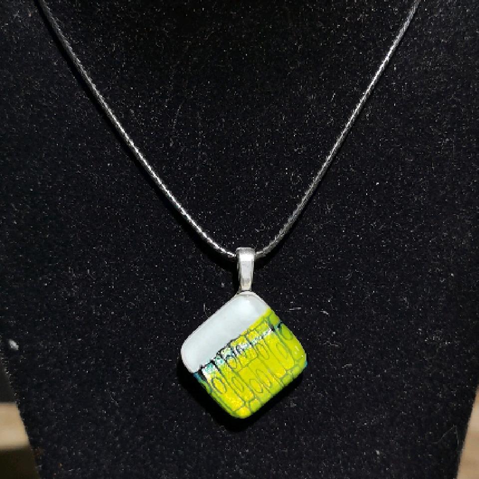 Grethes glass smykker, hvit/gul