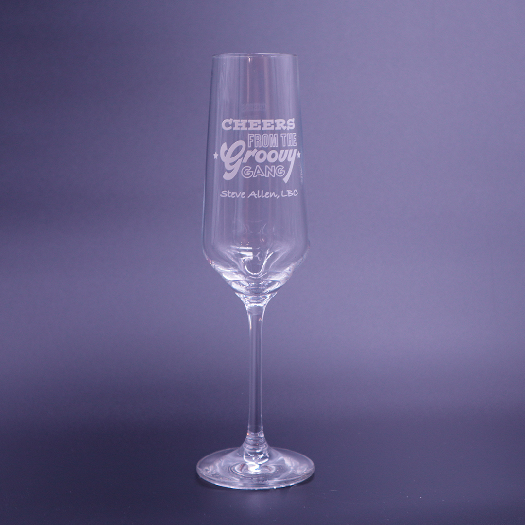 Groovy Gang Prosecco Glass - Set of 6