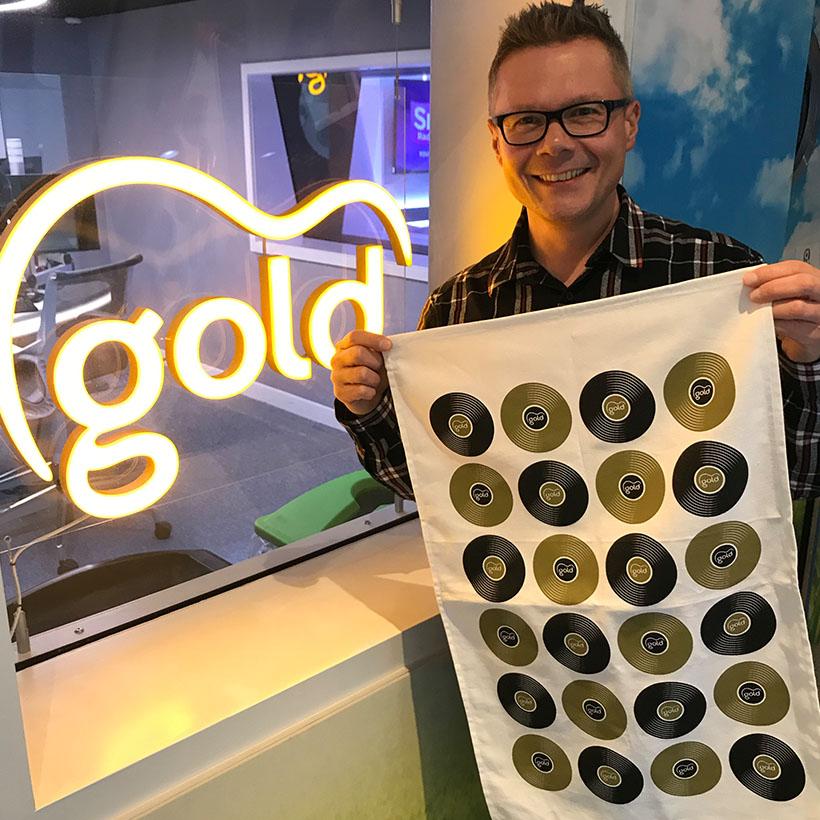 Gold Tea Towel
