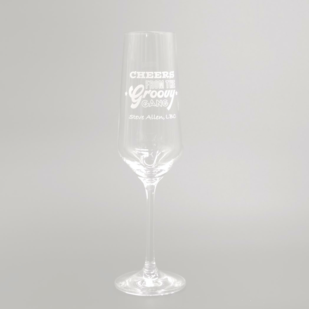 Groovy Gang Prosecco Glass - Single