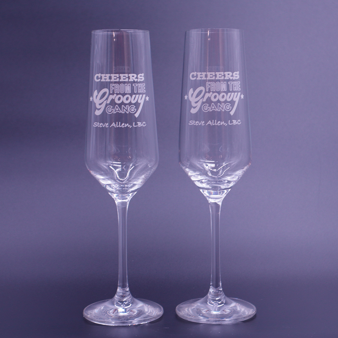 Groovy Gang Prosecco Glass - Set of 2