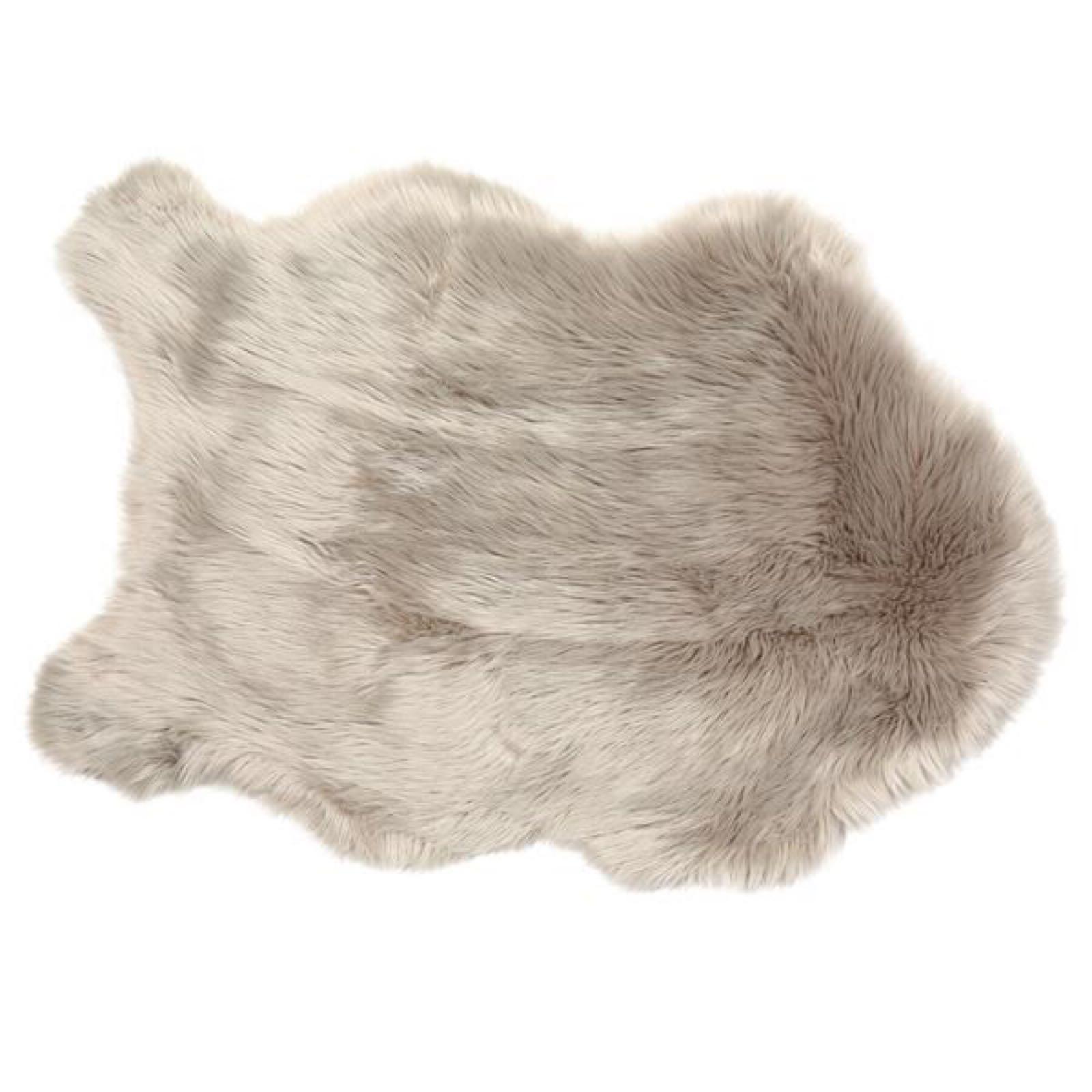 Faux Sheepskin Rug -  Taupe