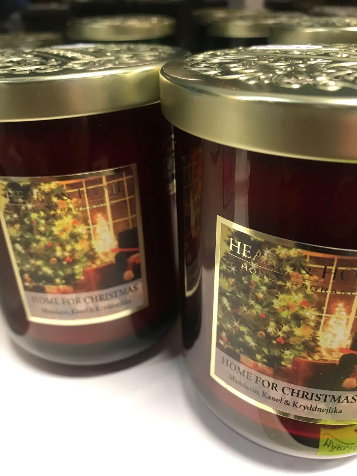 Doftljus jul 340 g.   Mandarin, kanel, kryddnejlika