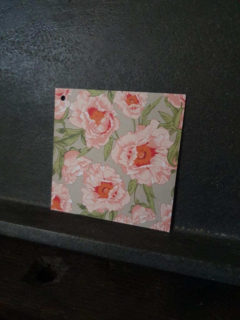 'Peonies' Card (C)