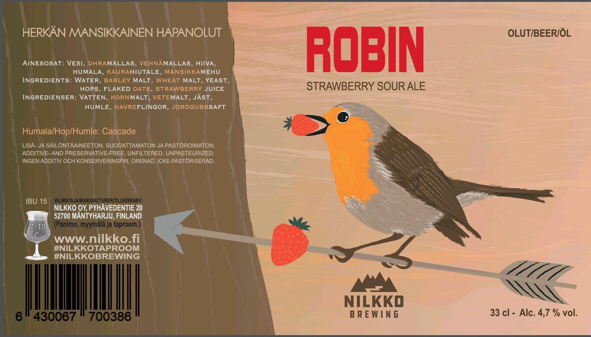 Robin strawberry sour ale 4,7% - 0,33l