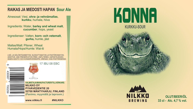 Konna cucumber sour ale 4,7% - 0,33l