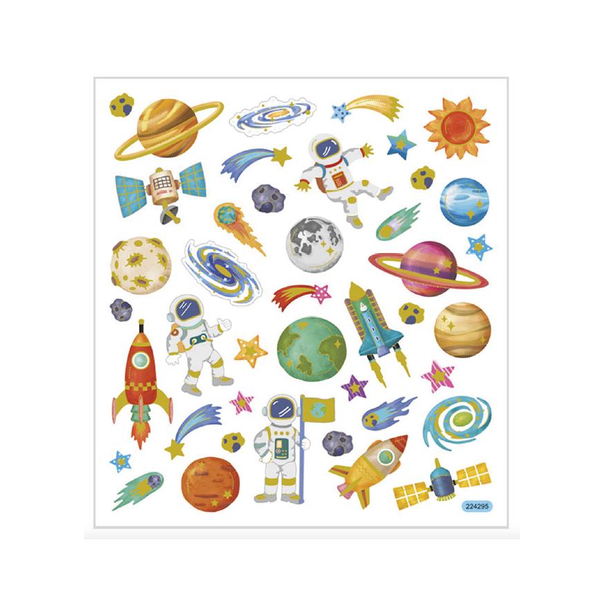 Stickers, Rymden