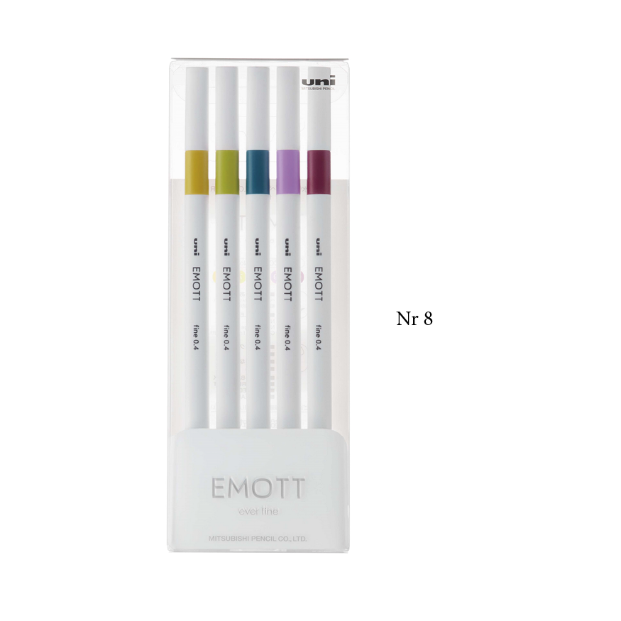 Uni Emott fineliner, 5-pack