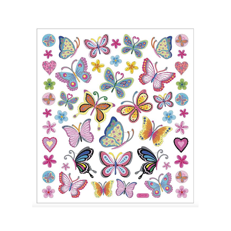 Stickers, Fjärilar (färgrika)