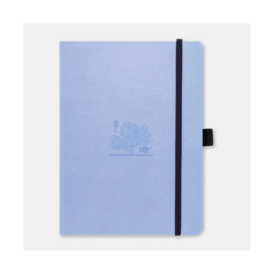 Dingbats Earth A5 skrivbok, dotted, Sky blue (great barrier reef)