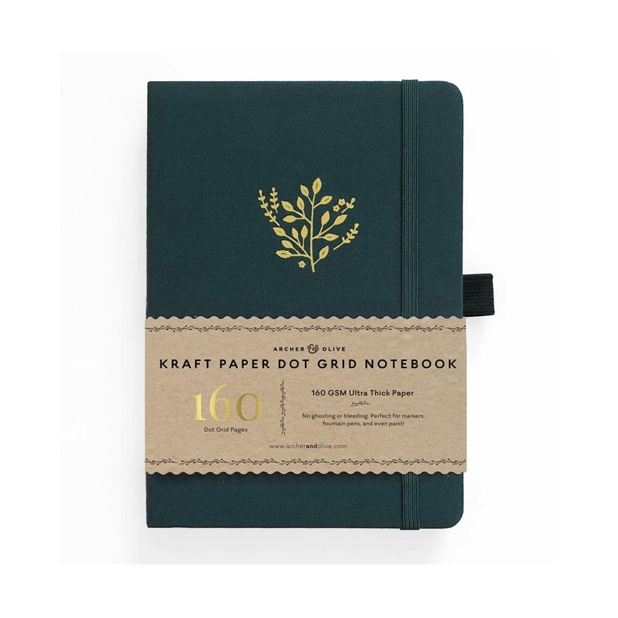 Archer & Olive, Deep Green, kraft paper