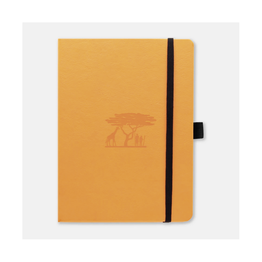 Dingbats Earth A5 skrivbok, dotted, Tangerine Serengeti (giraffe)