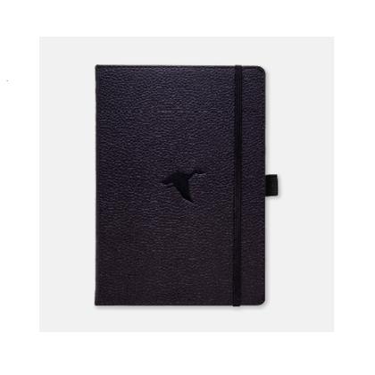 Dingbats Wildlife A5 skrivbok, dotted, Black (duck)
