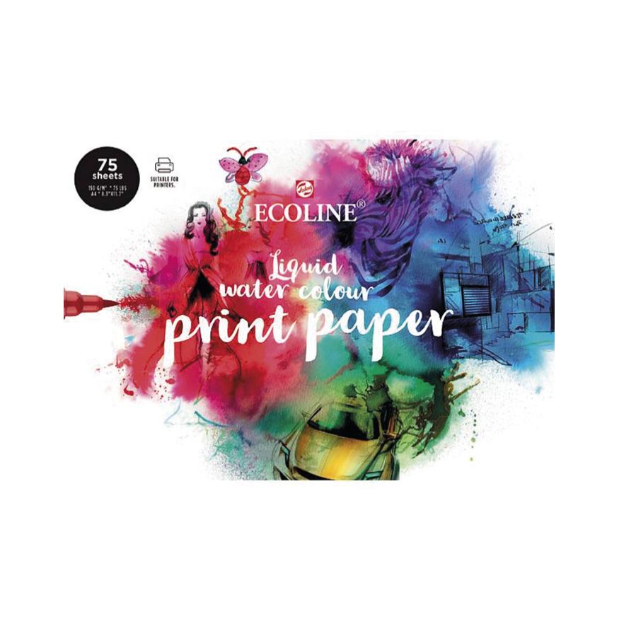 Ecoline Liquid Water color print paper
