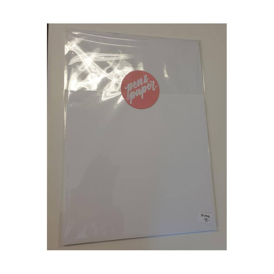 Papper för Lettering, A4, 20-pack