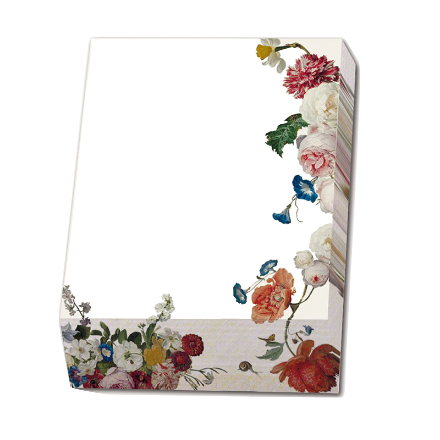 Noteringsblock, Blommor