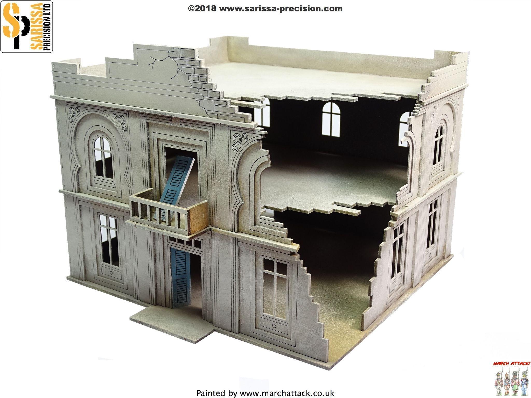 Destroyed Administration Building / Hotel, Sarissa Precision