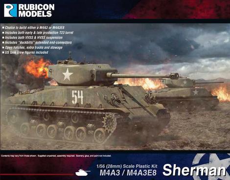 M4A3 / M4A3E8 Sherman, Rubicon Models