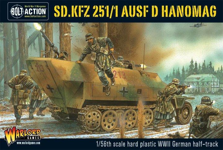 Sd.Kfz 251/1 ausf D Hanomag (plastic box set)
