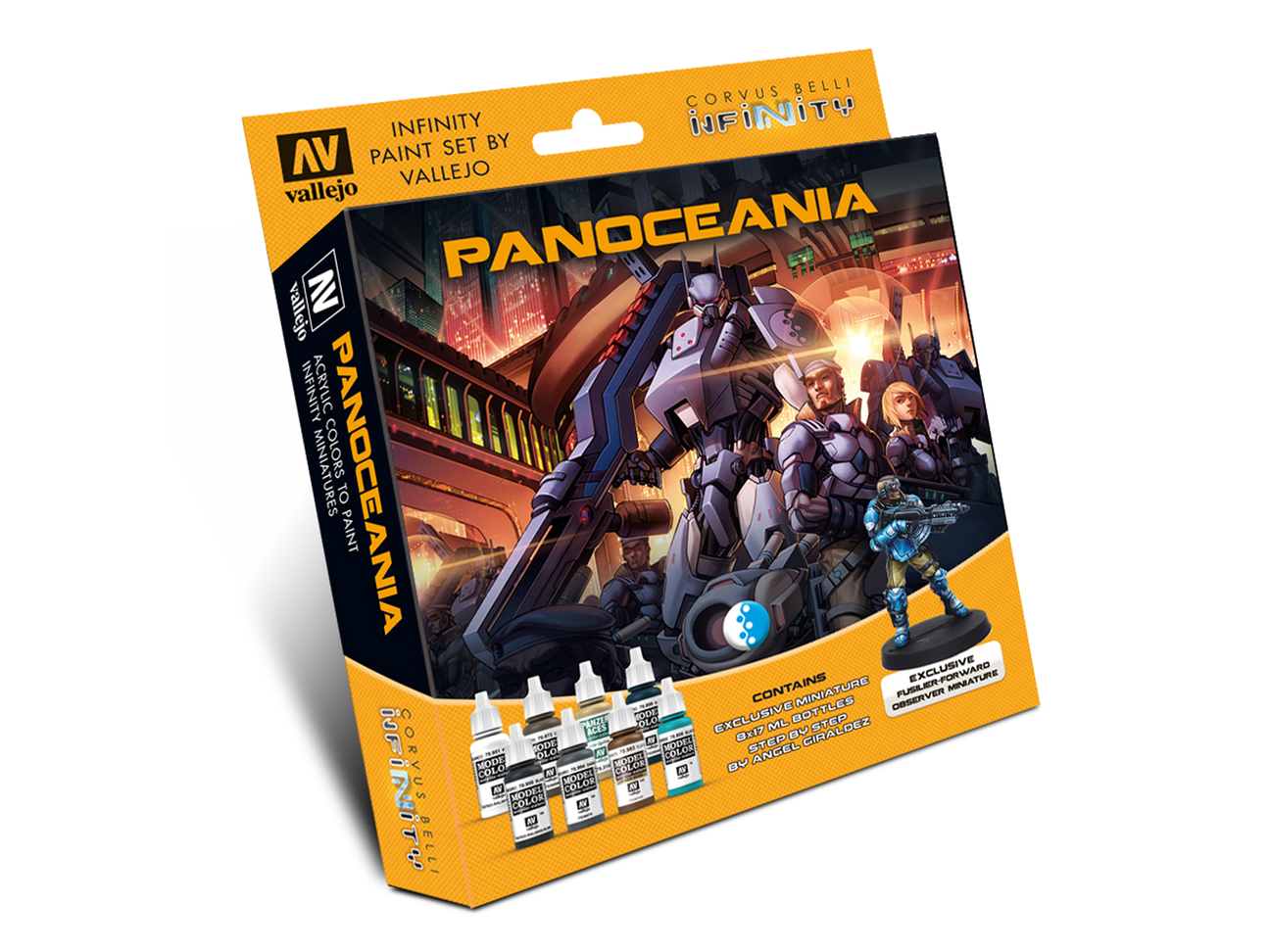 Infinity Panoceania Model Color Set - includes Exclusive Miniature