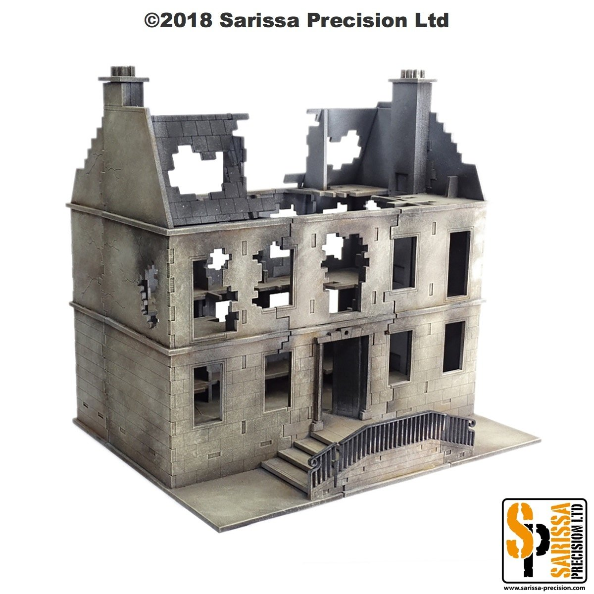 Destroyed European Residential Townhouse with Dormer, Sarissa Precision