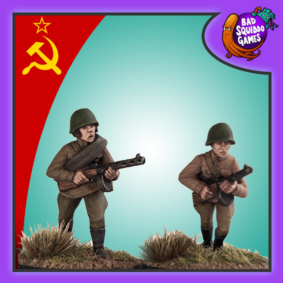 Soviet Infantry with SMG (2), Bad Squiddo Games