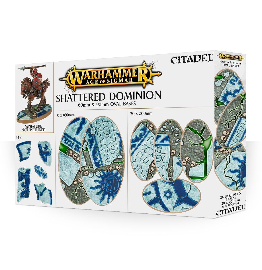 60mm & 90mm Oval Bases, Shattered Dominions