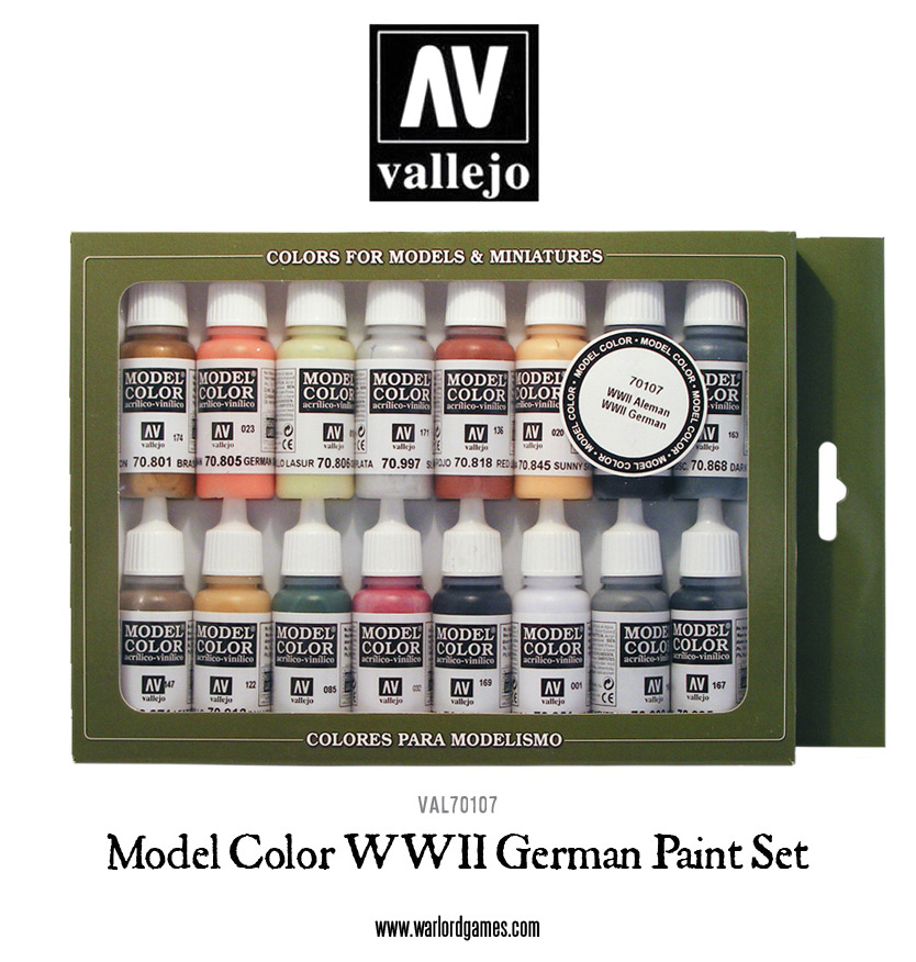 WW2 German Set Vallejo Model