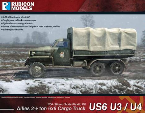 Allies US6 U3/U4 2½ ton 6x6 Truck, Rubicon Models