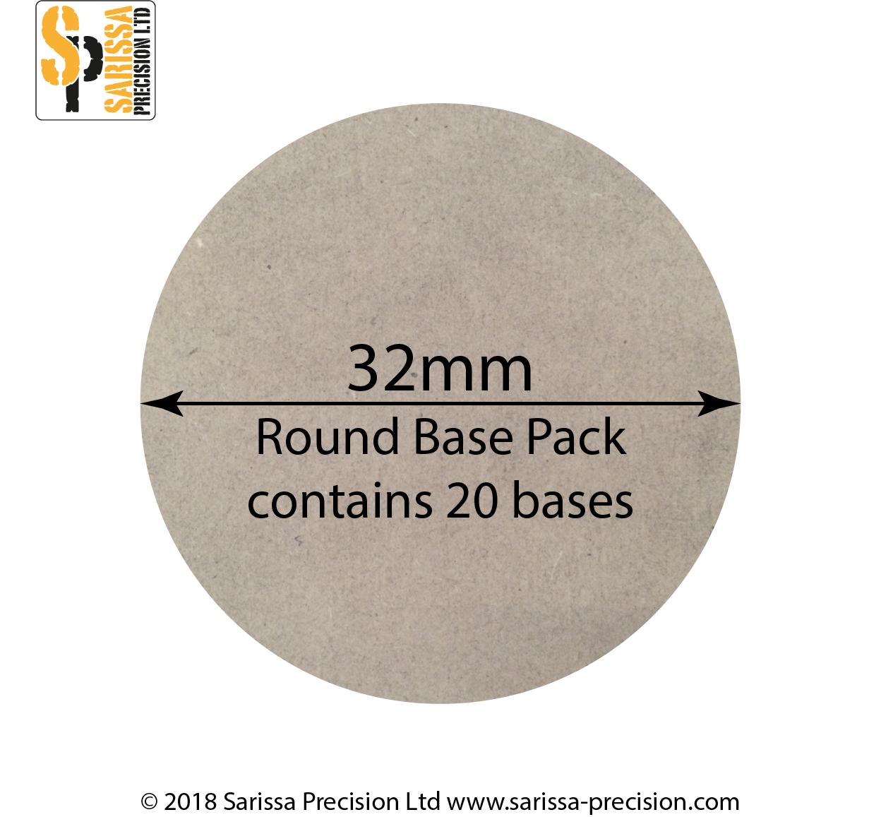 32mm Round Base, Sarissa Precision